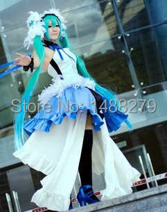 Anime Vocaloid Hatsune 7th Dragon 2020 Miku Cosplay Costume Gorgeous Blue Dress Halloween Costumes for Women - DISCOUNT ITEM  15% OFF All Category