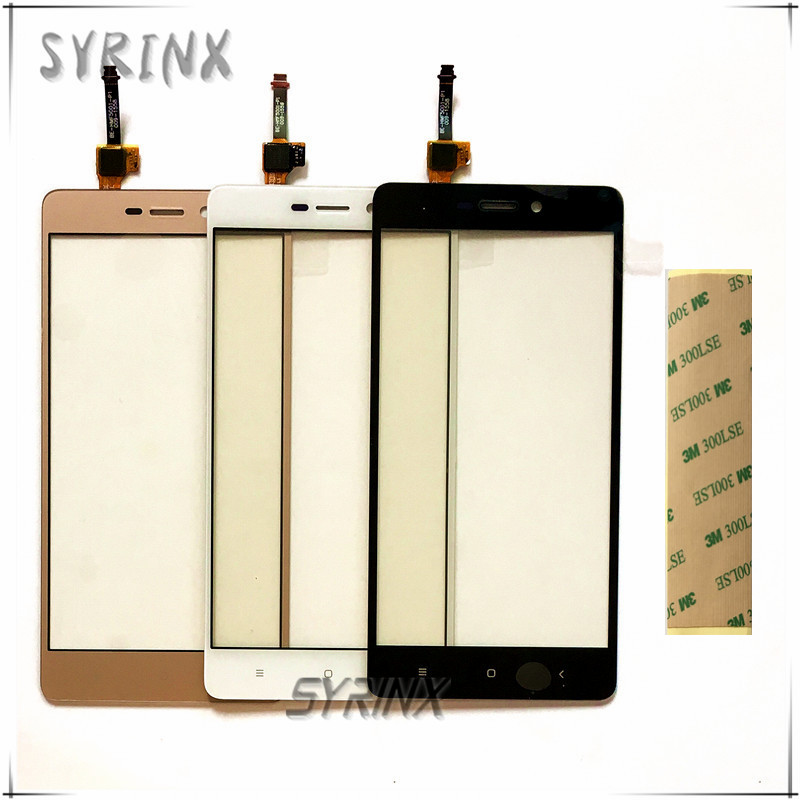Syrinx Tape Mobile Phone Touchscreen For Xiaomi Redmi 3 3s Touch Screen Digitizer Sensor Front Glass Lens Panel Sensor Touchpad