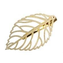 1Pc Fashion Hollow Out Metal Leaf Hair Clip Gold Hairpins Women Hair Accessories