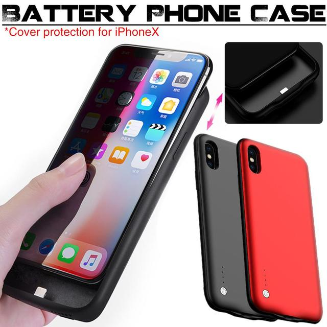 Rondaful 6000MAH Ultra-thin Wireless Phone Battery Cases & Covers Power Bank for iPhone X 10 Portable Phone Case Powerbank