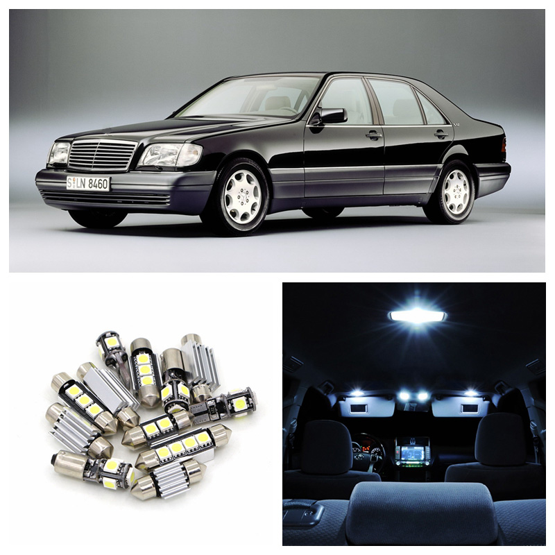 11pcs Canbus White Car LED Light Bulbs Interior Package Kit For 1991-1998 <font><b>Mercedes</b></font> Benz S-Class Map Dome Trunk Glove Box Lamp image