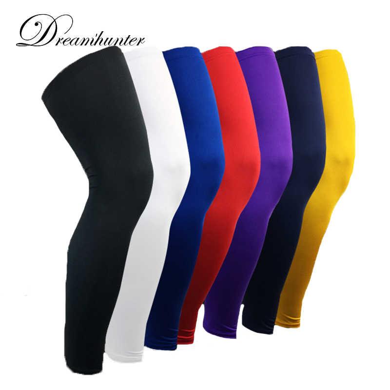 66f22f828e Lengthen Compression Leg Warmers Basketball Football Cycling Socks Knee  Calf Sleeves UV Sun Leg Warmers Men