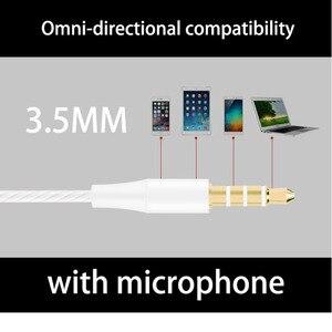 Image 4 - Проводные наушники с супербасами, 3,5 мм, цветные спортивные наушники с микрофоном, гарнитура громкой связи для Samsung fone de ouvido sh *