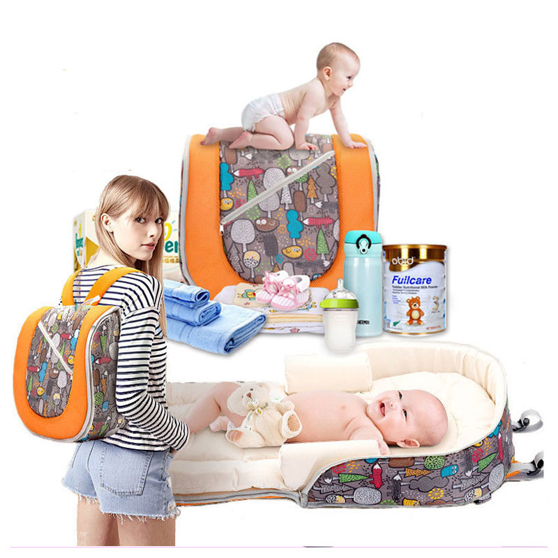 Large Capacity Multifunctional Portable Travel Diaper Mummy Backpack Sleeping Bag Baby Stroller Accessory Storage Organizer цена