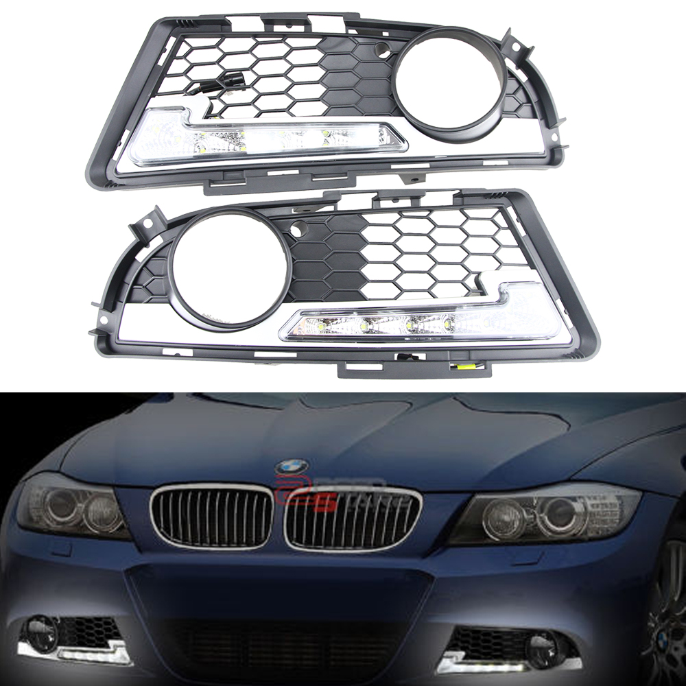 Waterproof 12W 6000K-7000K LED Lights DRL Daytime Running Light Auto Lamp For BMW E90 LCI Sedan & E91 LCI Touring M-tech 09-12 high quality light high power led daytime running lights for bmw e90 lci 3 series sedan 15w 2009 2012 freeshipping