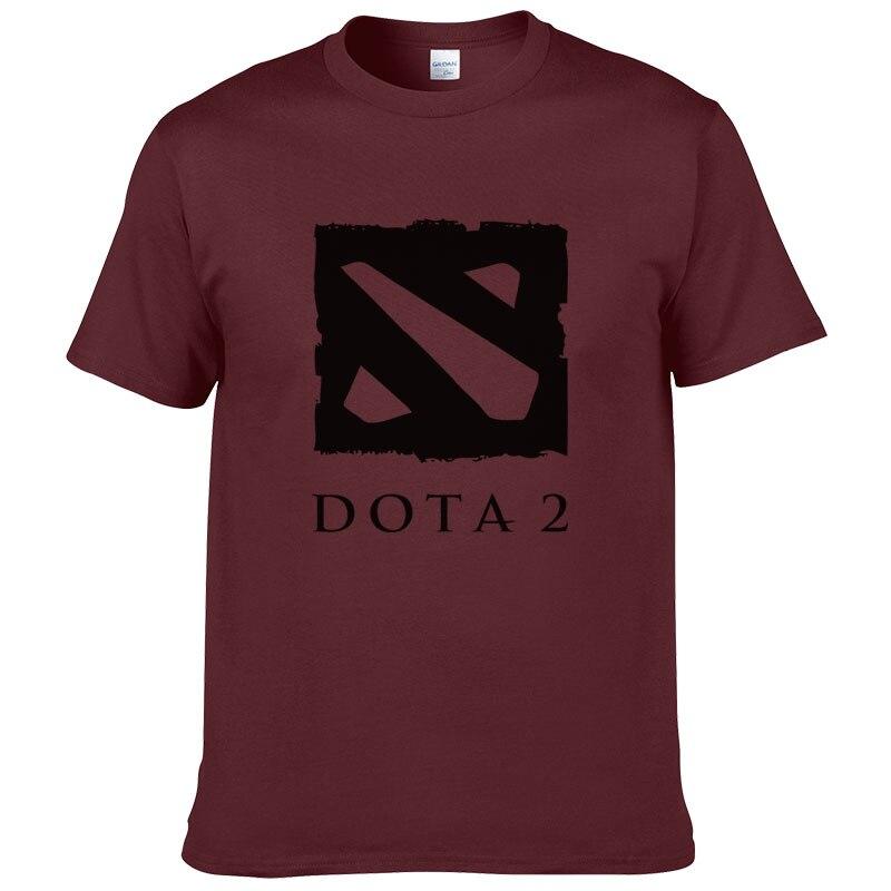 Defense of the Ancients T Degli Uomini Della Camicia Dota 2 Uomo T-Shirt Gioco Multiplayer Maschio maglietta di Cotone O Collo Camisetas Magliette
