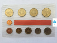 10pcs Federal Republic of Germany West Germany 1998 refined coins Original plastic seal collection gift presentNot circulated