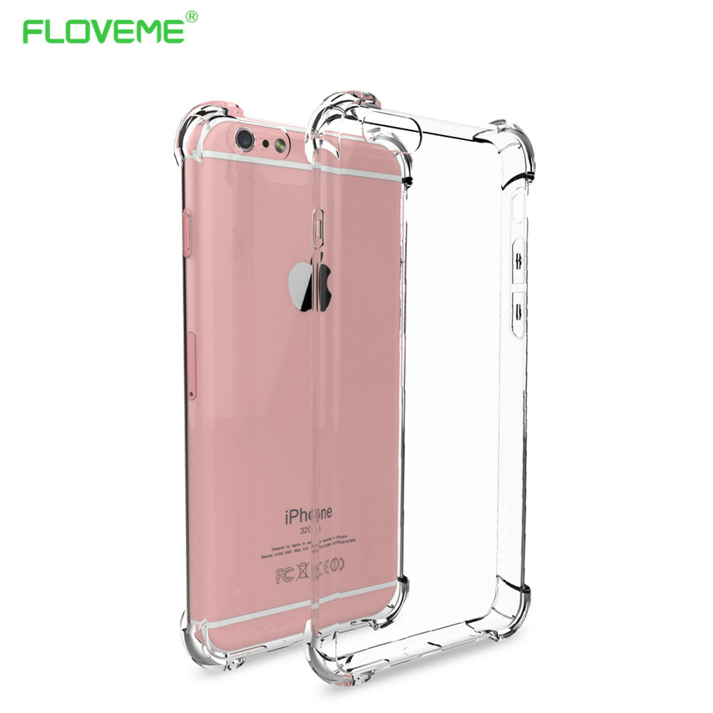 FLOVEME Anti-Knock Series For Xiaomi 5 5s Plus Huawei P9 Honor 8 iPhone 6 6s 7 Samsung S7 Edge S8 Clear Crystal Back Case Capa