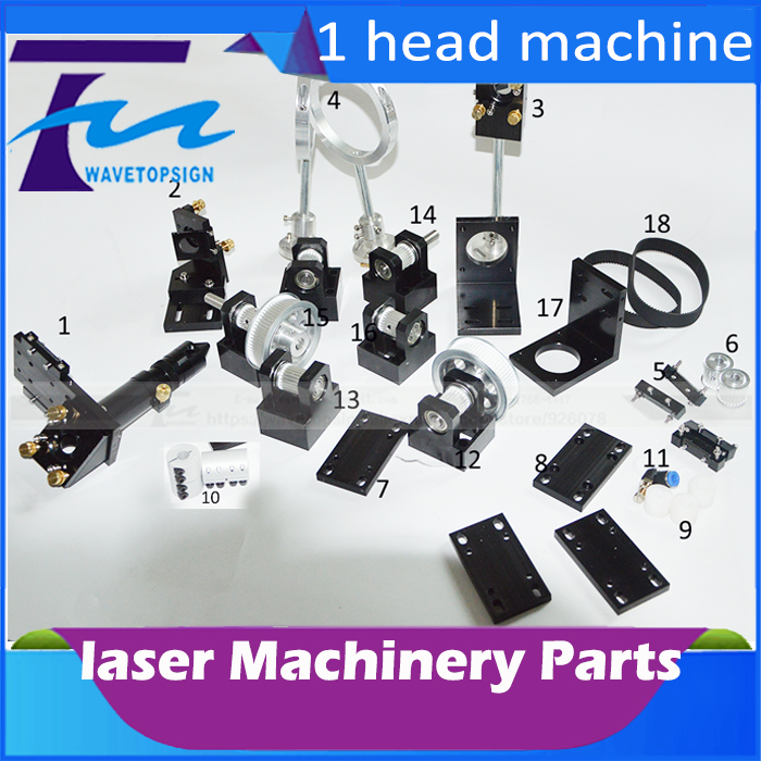 CO2 Laser Head Set CO2 Laser Metal Parts co2 laser path use for laser cutting and engraving machine co2 laser burner for laser cut head