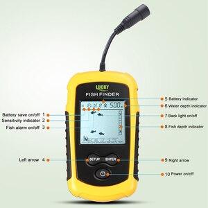Image 2 - Lucky Fish Finder Voor Boot Vissen Draagbare Ijsvissen Finder Accessoires Sonar Sensor Dieptemeter Bedrade Fishfinder FF1108 1