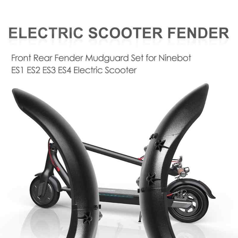 1 pcs Frente Rear Fender Lamas Set para Ninebot ES1 ES2 ES3 ES4 Acessórios Scooter Elétrico