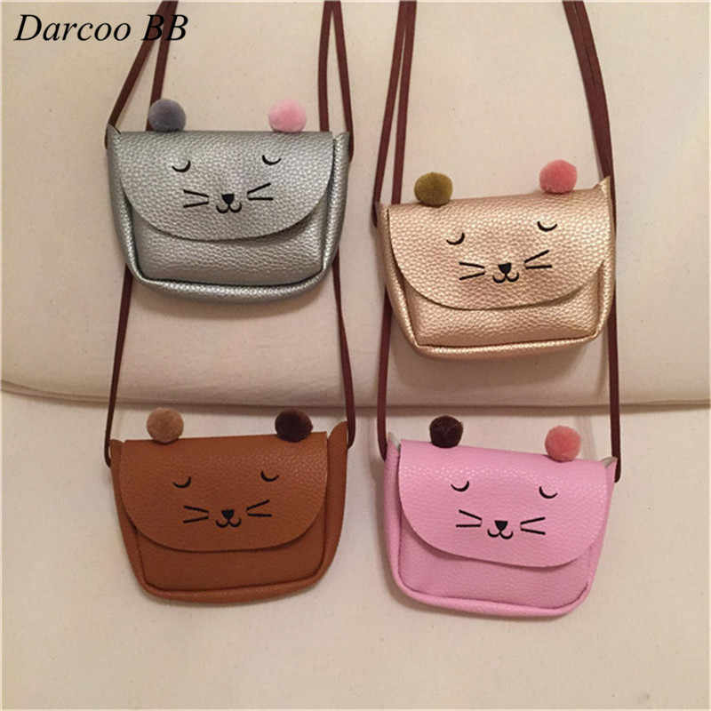 Cute Baby Toys Bag Cartoon Cat Small Stuffed Bags Pouch Patch Children Kids  Girls Mini Toy a890370ac79c