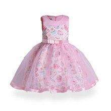 2019 Summer Girls Dress Flower Girl Dress Formal 3-8 Years Candy Baby Girls Dresses Vestidos  Wedding Party Birthday Clothing цена и фото