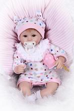 Educational 42cm 17inch Realistic Reborn Dolls With Real Cotton Rompers Hot Fashion Bebe Reborn Realista Unique Christmas Gift