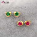 0.8cm*0.8cm jewelry 3 colors sweet CZ diamond flower color  jewelry earrings female fashion OL earrings gold plated 24K