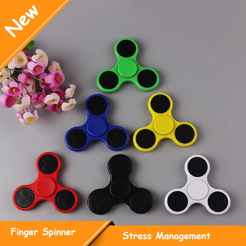 Multi Color Triangle Gyro Hand Spinner Plastic EDC Finger Fidget Spinner For Autism ADHD Anxiety Stress