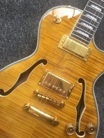 Custom Jazz Guitar,Electric Guitar, Vintage double bulging F hole,Guitar free shipping