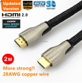 Free Shipping Gold Plated 2M High Speed HDMI 2.0 Cable With ethernet Full HD 1080P 2160P 4K*2K 3D for PS3 LCD DVD HDTV
