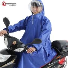 Rainfreem Men/Women Impermeable Electromobile/Bicycle Rain Poncho Thick Raincoat Double Transparent Hood Rain Gear Rain Coat