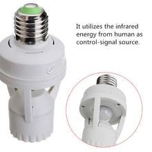 10-120 секунд, регулируемый светильник, переключатель движения, 110 В, 220 В, E27, держатель лампы, ИК инфракрасный датчик движения человека