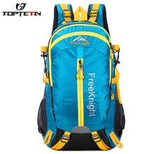 TOPTETN New outdoor bicycle equipment fitness large capacity two-color travel bag hiking waterproof scratch-resistant backpack
