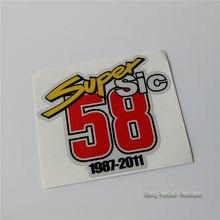 Суперстатические 58 виниловых наклеек для мотоциклов, дорожных гоночных автомобилей, мотоциклов, квадроциклов, внедорожных велосипедов