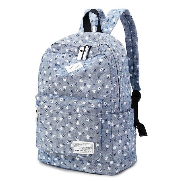 7c93996c8de3 Cute Floral Printing Backpack Women School Bags Rugzak Mochila Canvas  Backpacks for Teenage Girls Travel Big College Backpacks