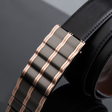 2017 Summer New! Adult Men Genuine Leather belt of formal business suits,Men's Solid Cowskin Belt High Quality Automatic Buckle