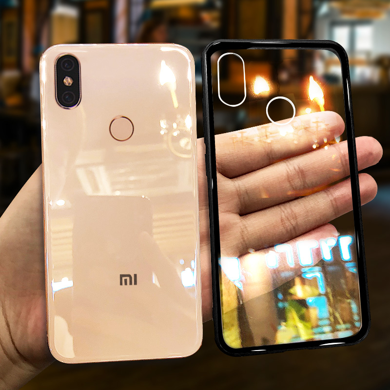 Original Yagoo for xiaomi mi 8 8 se case tempered transparent glass for xiaomi 8se phone case cover ultra slim 64 128 shell capa