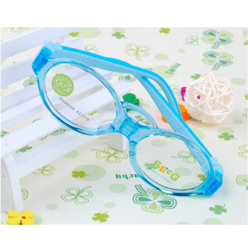 Secg Lembut Fleksibel Anak-anak Bingkai Balita Bayi Silikon Anak Frame Pandangan Miopia Amblyopia Diopter Kacamata Oculos Gafas