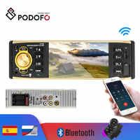 Podofo 4 ''Schermo TFT 1 Din Auto Radio Audio Stereo MP3 Auto Lettore Audio Bluetooth Con Telecamera Per La Retromarcia A Distanza controllo USB FM