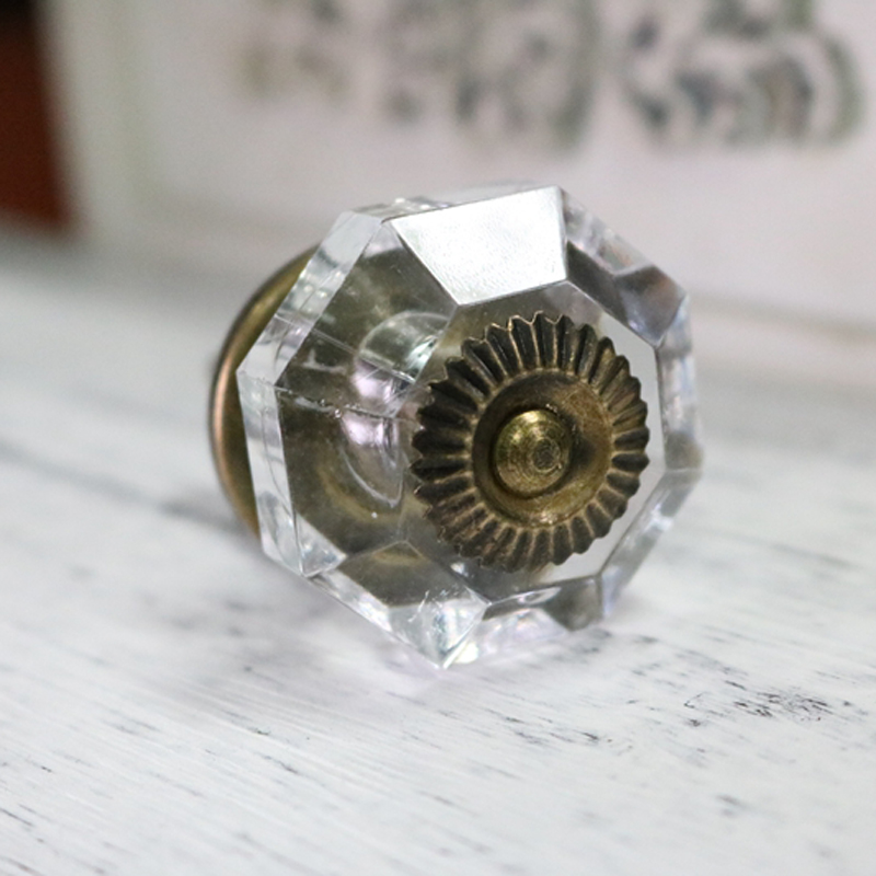 38mm high quality acrylic antique crystal door knobs vintage clear drawer dresser decorative pull knobs door