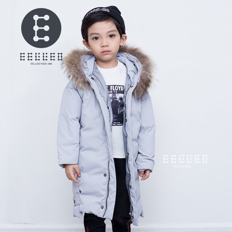 Children Winter Coat Gray Boy White Duck Down Jackets Fur Hooded Warm Winter Kids Clothes Boys Outerwear Jackets russia winter boys girls down jacket boy girl warm thick duck down
