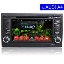 1024*600 2 Din Android Car Radio for Audi A4 Car DVD Player GPS Navigation System In Dash Touch Screen Car Stereo Bluetooth USB
