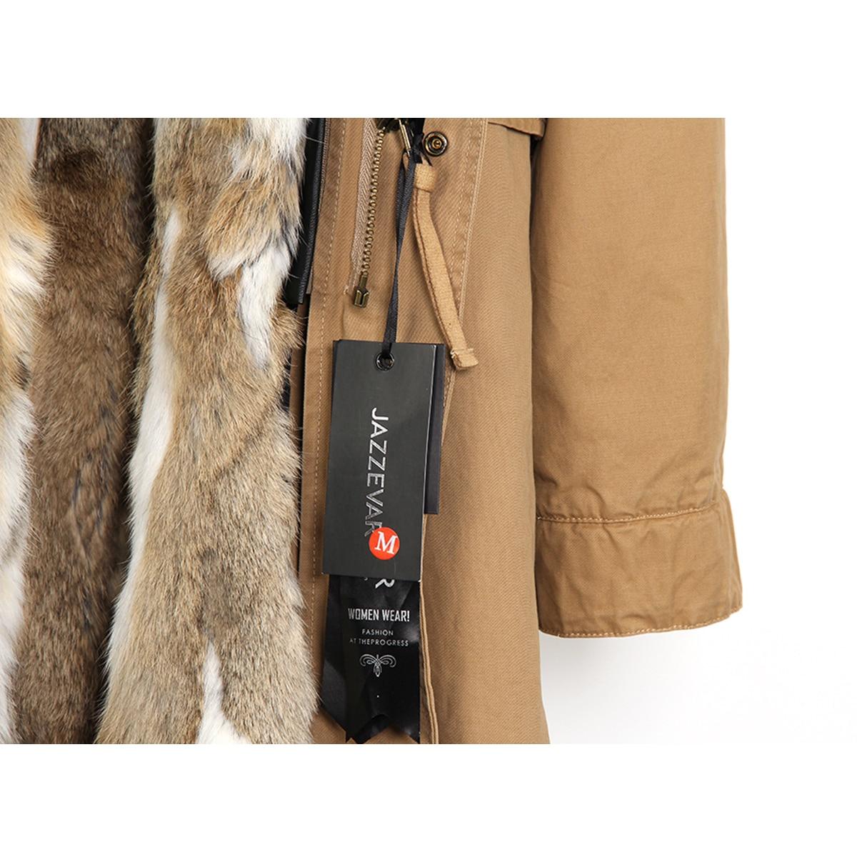 raccoon fur lined long