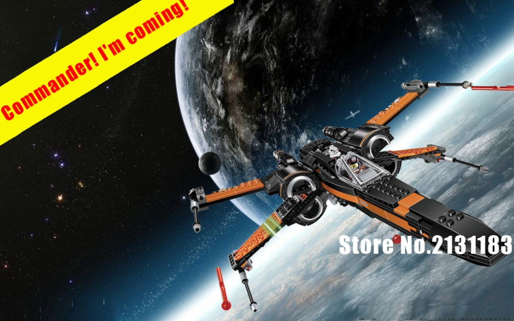 2018 New Star wars TIE first order poe's Rebel X-wing Fighter model Building Block bricks toy compatible legoes gift kid set boy hot sale building blocks assembled star first wars order poe s x toys wing fighter compatible lepins educational toys diy gift