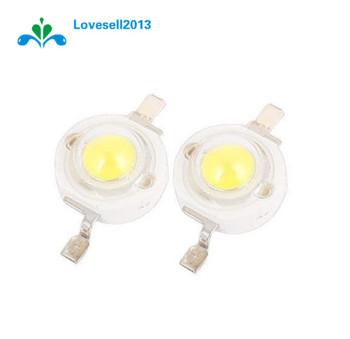 10PCS 1W LED High power Lamp beads Pure White 300mA 3.2-3.4V 100-120LM 30mil Taiwan Genesis Chip image