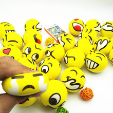 12pcs/set 6cm Funny Emoji Squishy Smiley Face Squeeze Toys Anti Stress Hand Wrist Exercise Bouncy Ball Toys For Children(China)