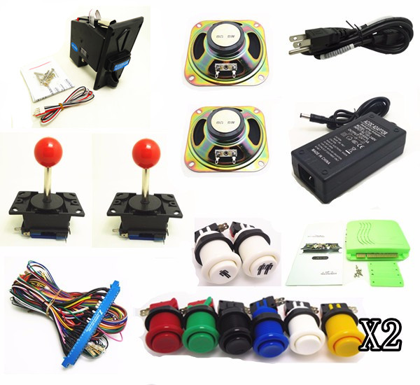 coin operated arcade game kit for VGA / HDMI OUTPUT 12V power input home version 645 in 1 jamma arcade multi game board pcb free shipping pandora box 4 vga cga output for lcdcrt 645in1 game board arcade bundle video arcade jamma accesorios kit arcade
