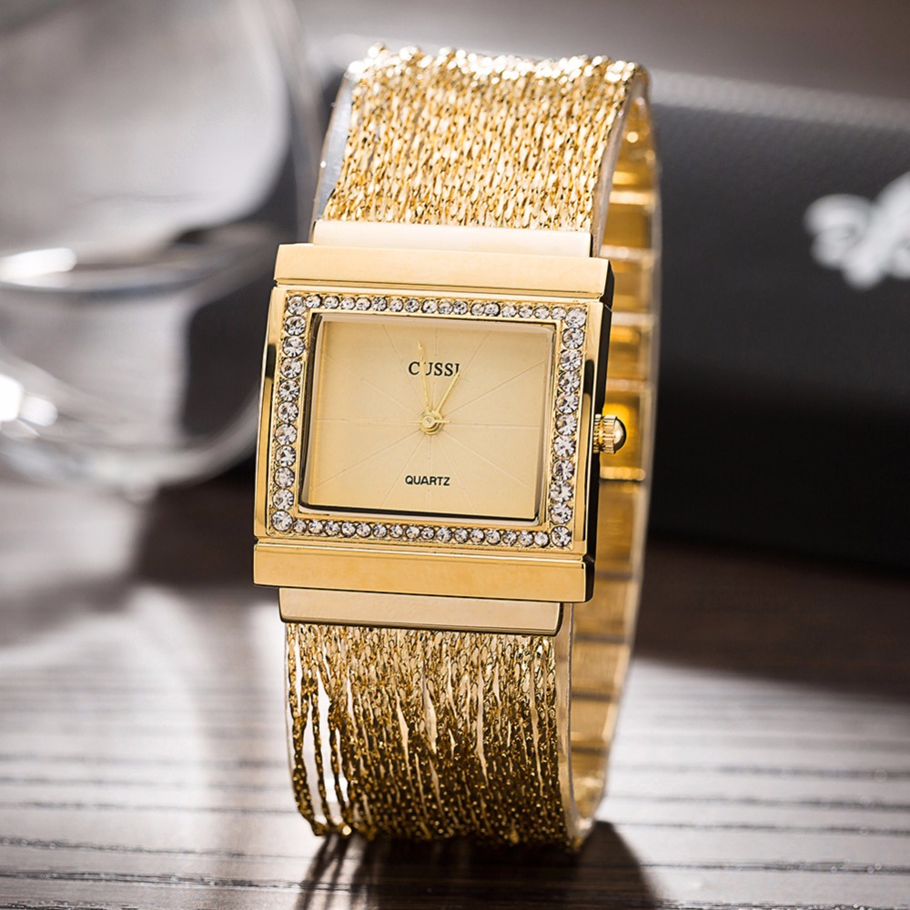 Strass Senhoras Pulseira de Relógios de Quartzo