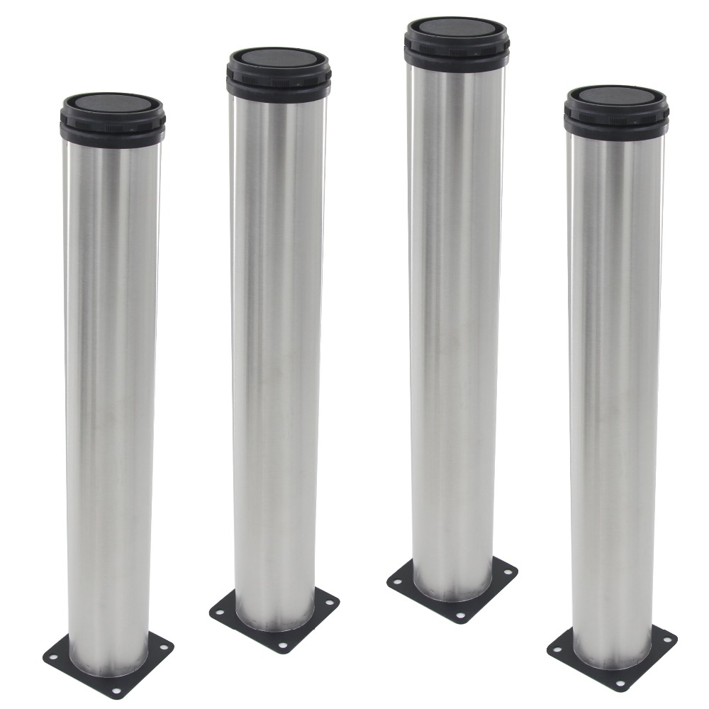 4pcs 450mm Height Furniture Legs Adjustable 15mm Silver Tone Stainless Steel Table Bed Sofa Leveling Feet Cabinet Legs 4pcs 150mm height furniture legs adjustable 10 15mm cabinet feet silver tone stainless steel leveling feet for table bed sofa