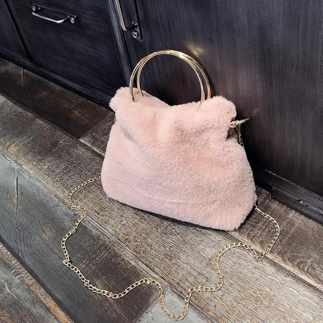 37b3414ec5 2018 Fashion Designer Women Handbag Female Faux Fur Bags Handbags Ladies  Brand Shoulder Bag Office Ladies Hobos Bag Totes