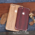 Newest Luxury High simulation Wood Grain Sticker 3M Phone Sticker For iPhone 5S SE 6S 7 7 Plus Full Body 3M Sticker+Free HD Film
