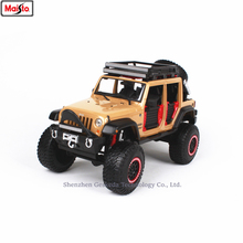 Maisto 1:24 Ford Jeep Wrangler modified simulation alloy car model crafts decoration collection toy tools gift