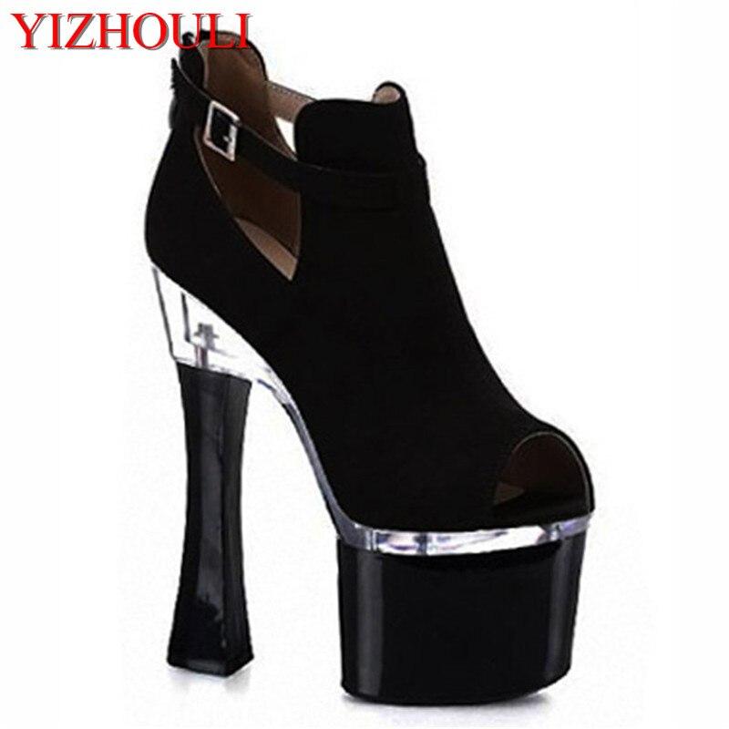 2018 chun xia sexy Roman gladiators 18 centimeters flashing buckles fashion women's high-heeled shoes sell like hot cakes
