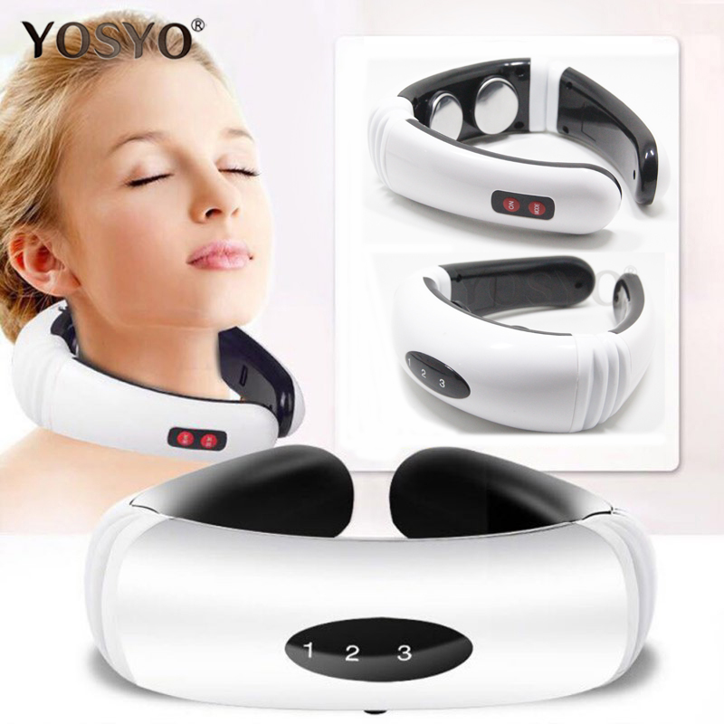 Electric Pulse Back and Neck Massager Far Infrared Heating Pain Relief Tool Health Care Relaxation suporte de celular para parabrisa
