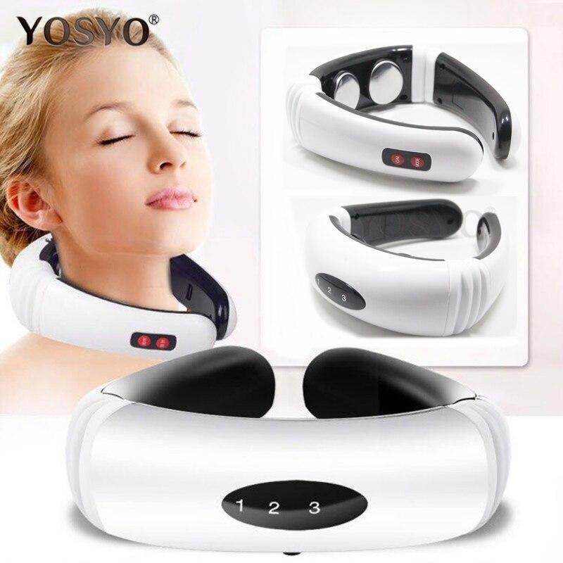 Masajeador eléctrico de espalda y cuello con calor infrarrojo lejano herramienta de alivio del dolor para el cuidado de la salud