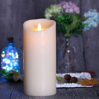 Ksperway Flameless Pillar LED Candles with Moving Flame Timer and Remote For Home/Wedding/Party/Holiday Decoration 3.5*9 inch