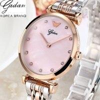 NEW 2018 YADAN Fashion Women Quartz Watches 3 Needle Stainless Strap Watch Women Dress Bracelet Watch Casual Lady Wristwatches
