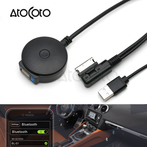 AtoCoto Bluetooth AUX Receiver Cable with USB Adapter for VW Audi A4 A5 A6 Q5 Q7 Before 2009 Audio Media Input AMI MDI Interface(China)